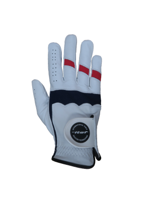 Red & Navy ITSF Leather Glove (male)