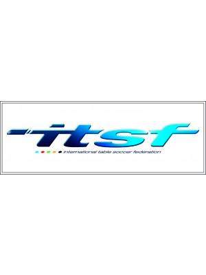 Aufkleber ITSF blau und Weiß