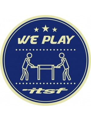 Aufkleber We play ITSF